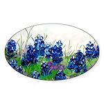 Bluebonnet Painting Oval Sticker