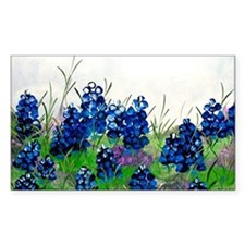 Bluebonnet Painting Rectangle Decal