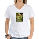 Gardening Decorating Outside Women's V-Neck T-Shir