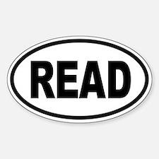 READ Oval Bumper Stickers