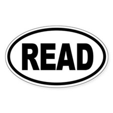 READ Oval Stickers