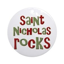 Saint Nicholas Rocks Ornament (Round)