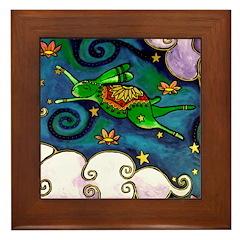 Marcy Hall's Green Wind Rabbit Framed Tile