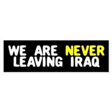 LEAVING IRAQ Bumper Bumper Sticker