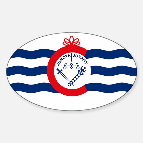Cincinnati Flag Oval Decal