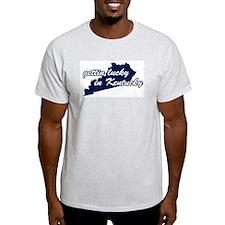 Gettin' Lucky in Kentucky Ash Grey T-Shirt