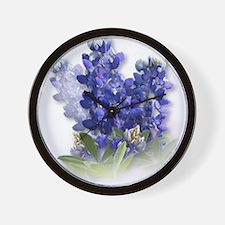 Bluebonnet Spray Wall Clock