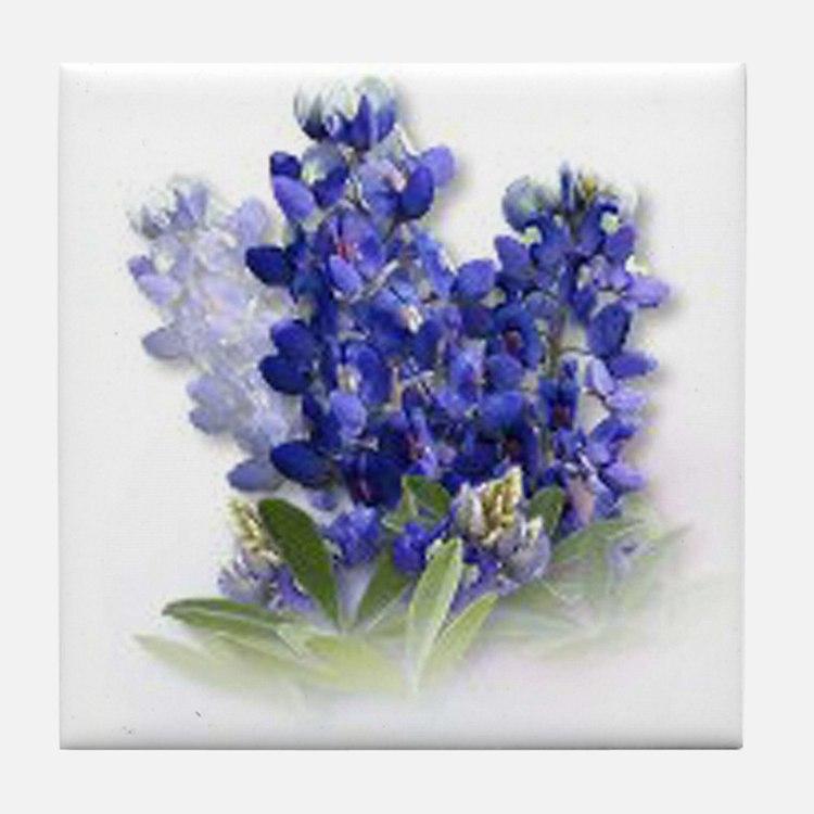 Bluebonnet Spray Tile Coaster