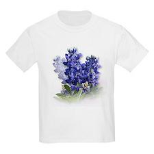 Bluebonnet Spray Kids T-Shirt