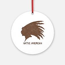 Native American 2 Ornament (Round)