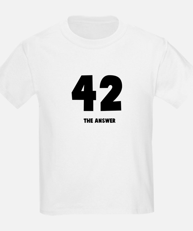 42 the answer to the question Kids T-Shirt