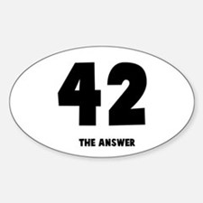 42 the answer to the question Oval Decal
