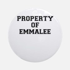 Property of EMMALEE Round Ornament