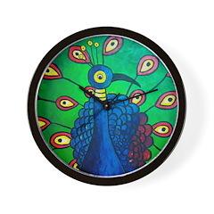 Marcy Hall's Peacock Wall Clock