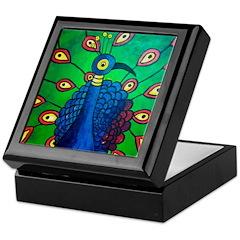 Marcy Hall's Peacock Keepsake Box