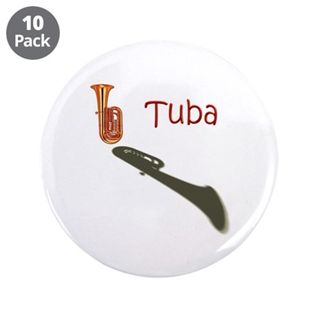 "RedTubaShad 3.5"" Button (10 pack)"