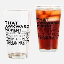 Awkward Tibetan Mastiff Dog Designs Drinking Glass