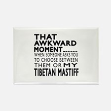 Awkward Tibetan Mastiff Dog Desig Rectangle Magnet