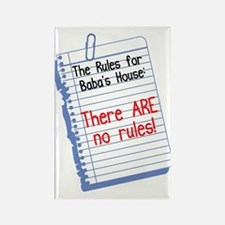 No Rules at Baba's House! Rectangle Magnet