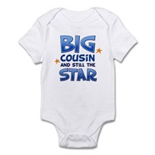 Big Cousin - Star (Blue) Infant Bodysuit