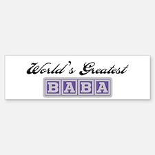 World's Greatest Baba (blue) Bumper Bumper Bumper Sticker