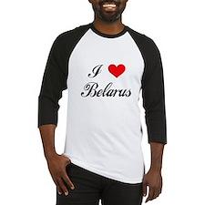 I Love Belarus Baseball Jersey