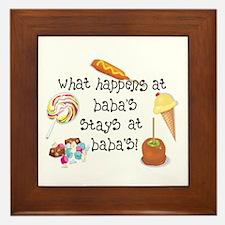 What Happens at Baba's... Framed Tile