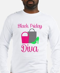 black friday diva Long Sleeve T-Shirt