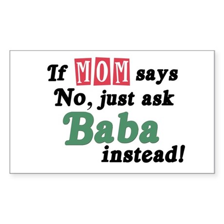 Just Ask Baba! Rectangle Sticker
