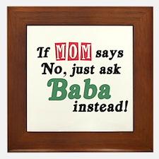 Just Ask Baba! Framed Tile