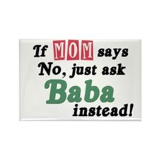 Just Ask Baba! Rectangle Magnet