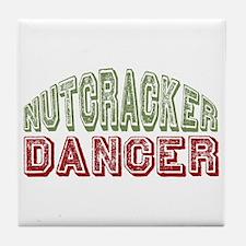 Nutcracker Dancer Christmas Ballet Tile Coaster