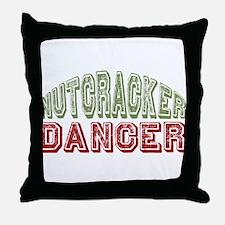 Nutcracker Dancer Christmas Ballet Throw Pillow