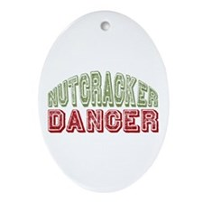 Nutcracker Dancer Christmas Ballet Oval Ornament