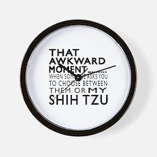 Awkward Shih Tzu Dog Designs Wall Clock