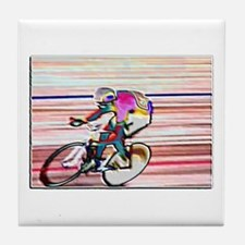 BIKE RACER WAX Tile Coaster