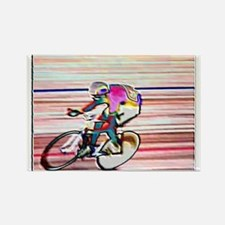 BIKE RACER WAX Rectangle Magnet