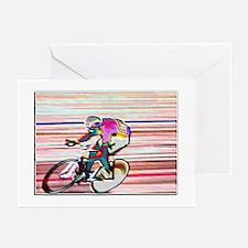 BIKE RACER WAX Greeting Cards (Pk of 10)