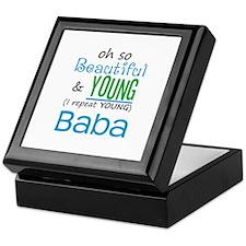 Beautiful and Young Baba Keepsake Box