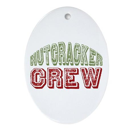 Nutcracker Crew Christmas Ballet Oval Ornament