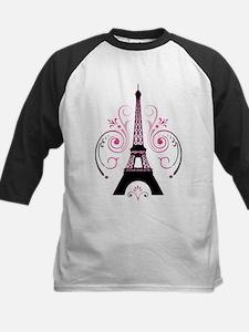 Eiffel Tower Gradient Swirl Baseball Jersey