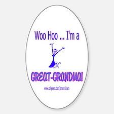 WOO HOO GREAT-GRANDMA Oval Decal