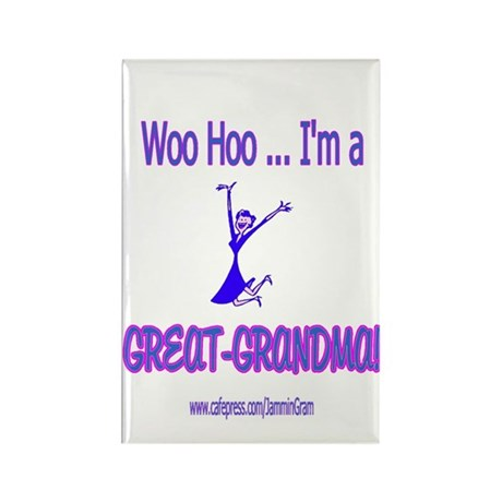 WOO HOO GREAT-GRANDMA Rectangle Magnet