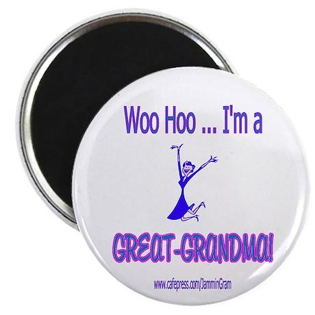 WOO HOO GREAT-GRANDMA Magnet