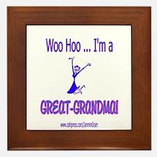 WOO HOO GREAT-GRANDMA Framed Tile