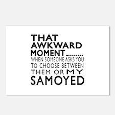 Awkward Samoyed Dog Desig Postcards (Package of 8)