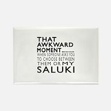 Awkward Saluki Dog Desi Rectangle Magnet (10 pack)