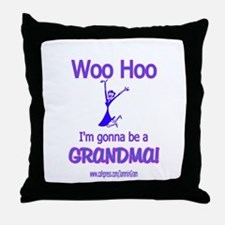WOO HOO GRANDMA 2B Throw Pillow