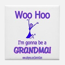 WOO HOO GRANDMA 2B Tile Coaster