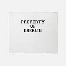 Property of OBERLIN Throw Blanket